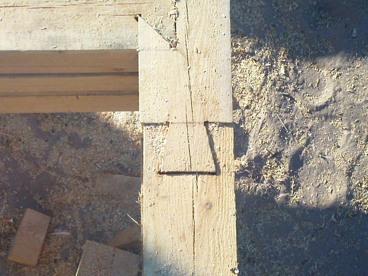 Стык по длине ,, ласточкин хвост,, этапы строительства.